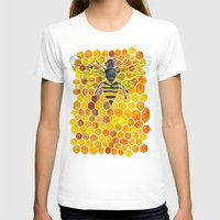 honeycomb T-shirts featuring Bee & Honeycomb by Cat Coquillette