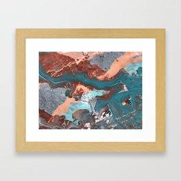 RIVER RUN   Acrylic fluid art by Natalie Burnett Art Framed Art Print