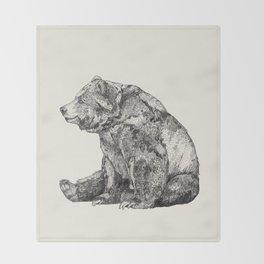 Bear // Graphite Throw Blanket