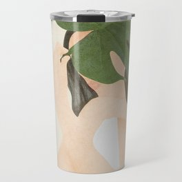 Under the Monstera Leaf Travel Mug