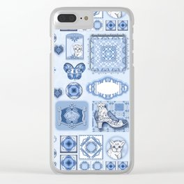 Kitty in a Blue Shoe Clear iPhone Case