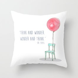 Think and Wonder Throw Pillow