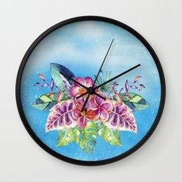 Tropical Jungle Flowers - Aloha Beach - on #Society6 Wall Clock