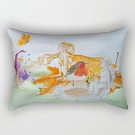 Watercolour painting of 'Fantasy' Rectangular Pillow