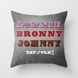 Lonnie, Bronny, Johnny Throw Pillow
