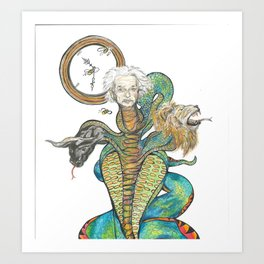 Chronos Albert Einstein Art Print