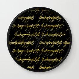 Elvish // Gold & Black Wall Clock