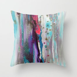 Drippy Waterworld Throw Pillow