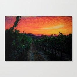 Tuscany Sunrise Landscape by Jeanpaul Ferro Canvas Print