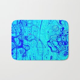 Abstract Oil on Water Bath Mat