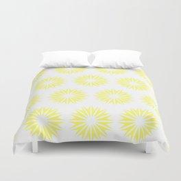 Lemonade Modern Sunbursts Duvet Cover