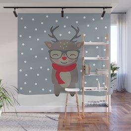 Merry Christmas Deer Wall Mural