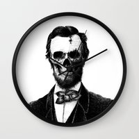 lincoln Wall Clocks featuring Abraham Lincoln by Motohiro NEZU