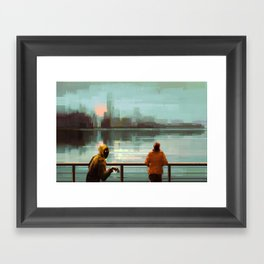 A blind date Framed Art Print