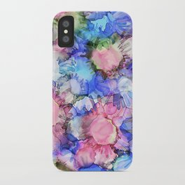 Alcohol Ink Flower Pattern iPhone Case