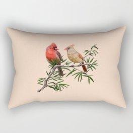 Northern Cardinal Mates Rectangular Pillow
