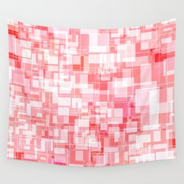 Pink Square Patterns Design Wall Tapestry