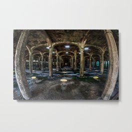 horizontal image of the hall with countless columns Metal Print
