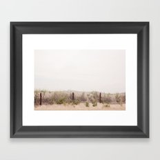the lines at the beach Framed Art Print