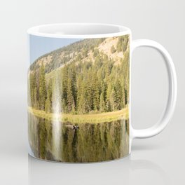 Grand Teton National Park, Moose Ponds Reflection, Nature Landscape, Wilderness Decor, Forest Photo Coffee Mug
