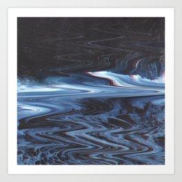 Water Glitch #1 Art Print