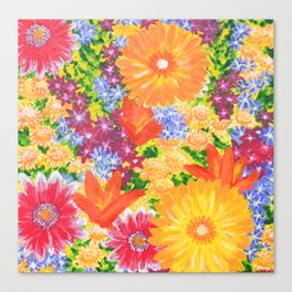 Flowers Awaken Canvas Print
