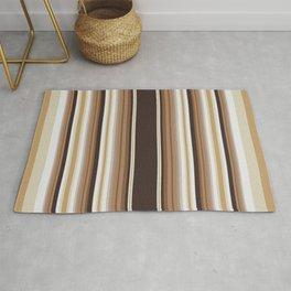 Vintage brown vertical stripes pattern Rug
