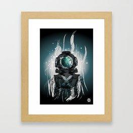 Deep Space Diver Framed Art Print