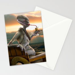 Alien Abroad Stationery Cards