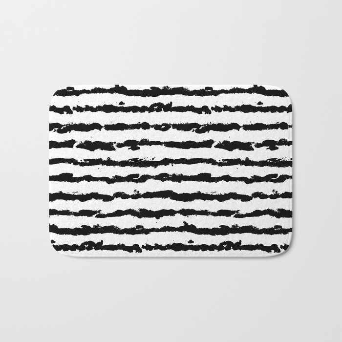Brush Stripes Bath Mat