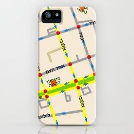 Tel Aviv map - Rothschild Blvd. Hebrew iPhone Case