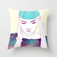 grimes Throw Pillows featuring GRIMES by Nuk_