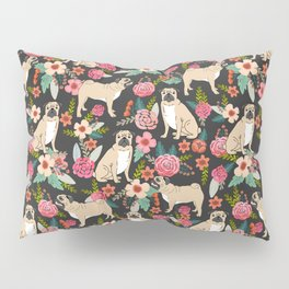 Pug floral dog breed must have gifts for pug lover pet pattern florals Pillow Sham