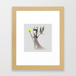 Maleficent and Diaval Framed Art Print