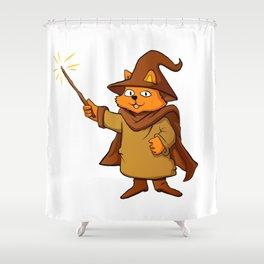 wizard cat. Shower Curtain