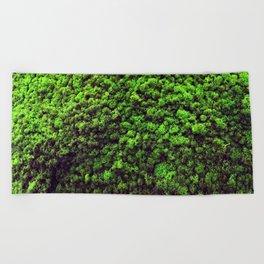 Dark Green Moss Beach Towel