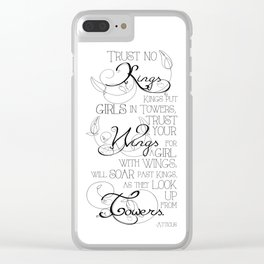 Trust No Kings - white Clear iPhone Case
