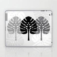 Tropical leaves in grey Laptop & iPad Skin