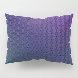 Gradient cube pattern cold Pillow Sham