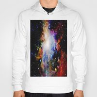 galaxy Hoodies featuring GaLaXY : Orion Nebula Dark & Colorful by GalaxyDreams