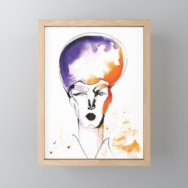 Butch Queen with Fabulous Hair Framed Mini Art Print