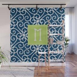 Monogram Shower Curtain Wall Mural