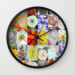 Georgia O'Keeffe Montage Wall Clock