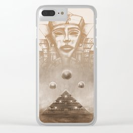 Ancient Egyptian Ra Stargate Nubia Clear iPhone Case