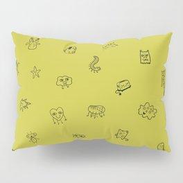 Yellow Monster Pattern Pillow Sham
