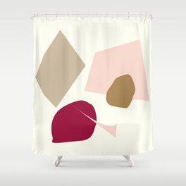 The burgundy spot Shower Curtain