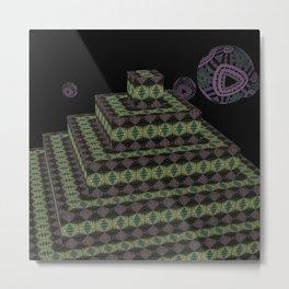 Pyramide Grotesque 43 Metal Print