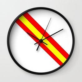 Flag of spain 7-spain,espana, spanish,plus ultra,espanol,Castellano,Madrid,Barcelona Wall Clock