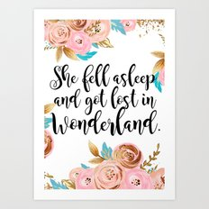 Lost in Wonderland. Art Print