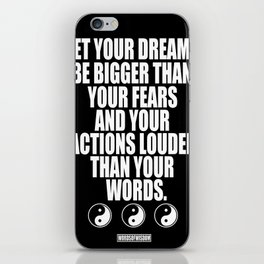 Dreams and Actions iPhone Skin